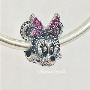 Authentic PANDORA Sparkling Minnie Mouse Charm